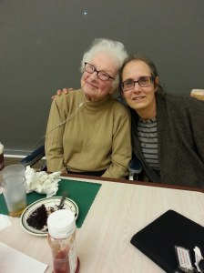 Ruth Goldbas and me in September. Photo by her son David