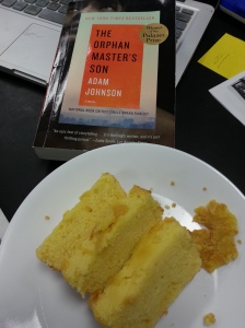 "lemon cake and ""The Orphan Master's Son"""