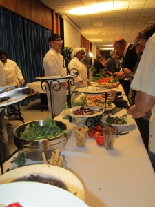 A food station at an event