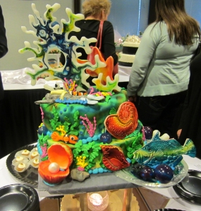 The work that went into this cake was probably way more work than a day at the beach!