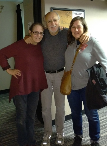 Your correspondent (left) with Peter Yarrow and my sister.